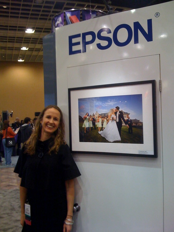 Catherine Hall is proud to have her images featured in the Epson booth at a photo-industry trade show