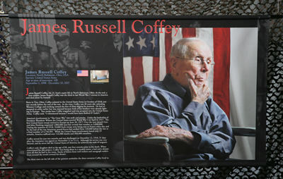 Photo banner honoring James Russell Coffey
