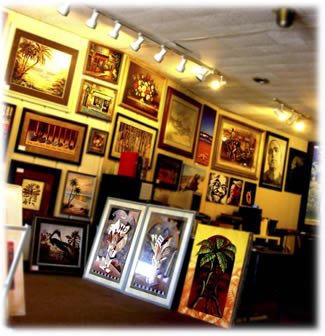 Artist Mike Damico runs the Frame & Art Gallery in Fort Myers, FL