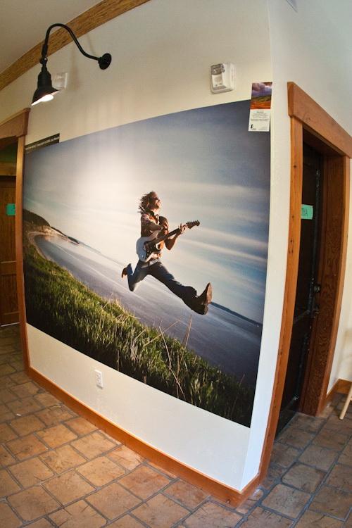 Photo mural at Fine Balance Imaging