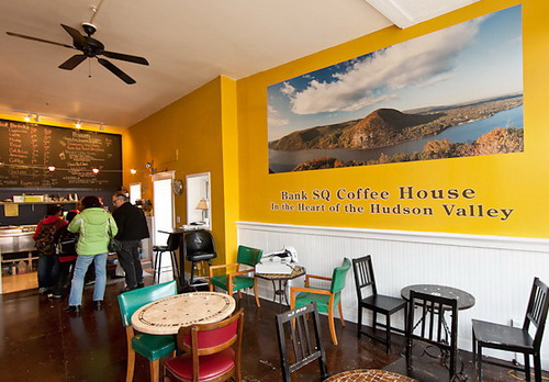 Photo mural creates buzz in hudson valley coffee shop for Mural coffee shop