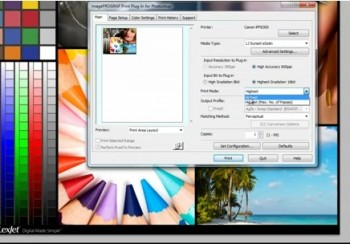 How to print through Photoshop with Canon Print Plug-In
