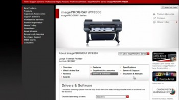 How to update firmware Canon printer