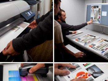Color management inkjet printing