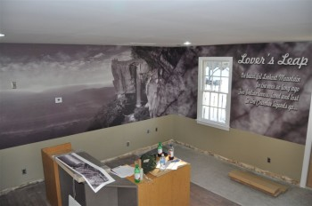 Inkjet print custom wall mural