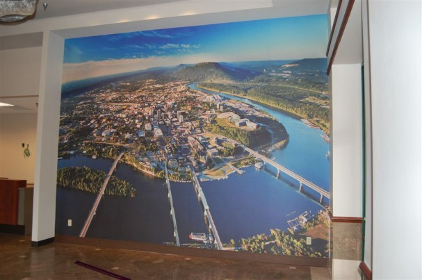 Custom wall mural inkjet printing