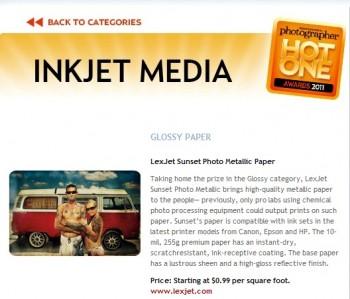 Inkjet print media
