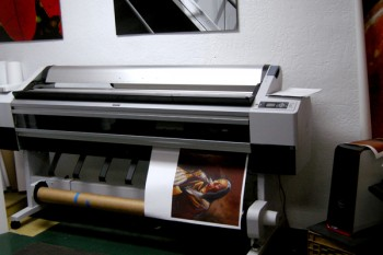 Inkjet printer matte canvas