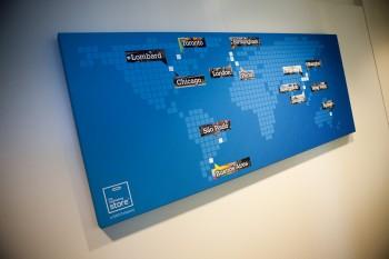 Inkjet printing presentation board