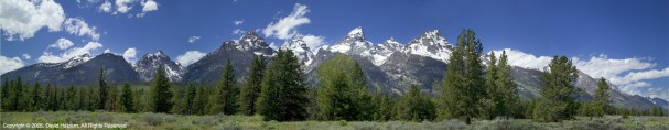 Panoramic photography Tetons