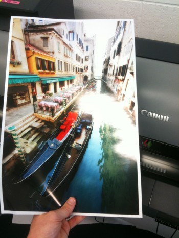 Inkjet printing photo metallic Canon printer