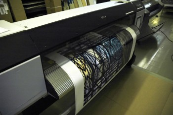 Printing canvas with an Epson GS6000 solvent inkjet printer