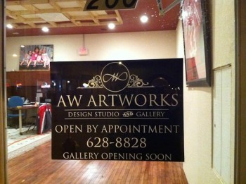 Gallery studio profile of AW Artworks