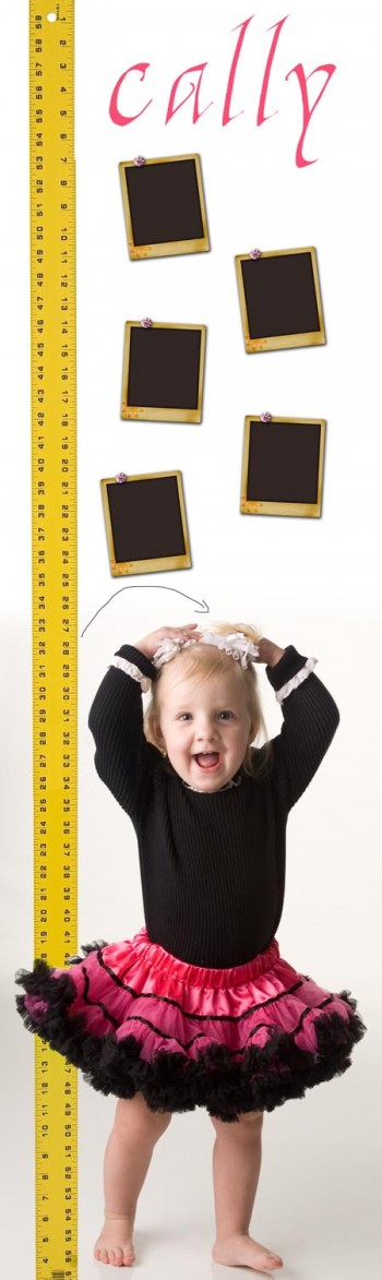 Using inkjet printable wallpaper for a growth chart
