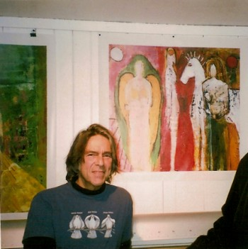 Stephen Kerner in his studio