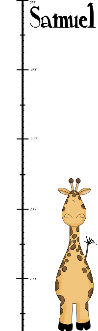 Growth chart for child photography