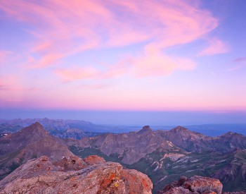Capturing the sunrise from Uncompahgre Peak