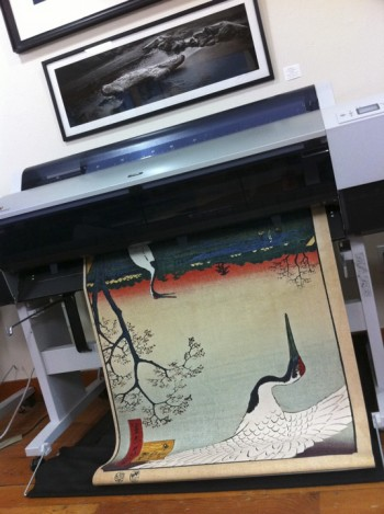 Printing Japanese art with an inkjet printer