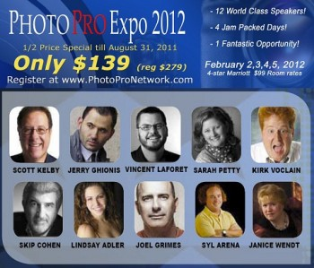 Photography expo with famous photographers