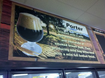 Point of sale signage for craft beers