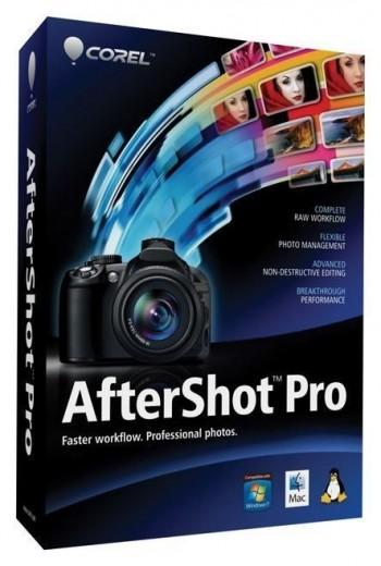 Corel AfterShot Pro workflow software for photography