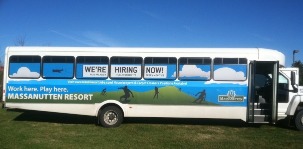 Advertising with bus graphics