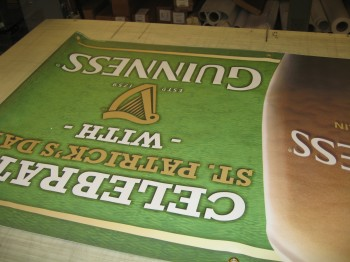 Printing banners with an inkjet printer