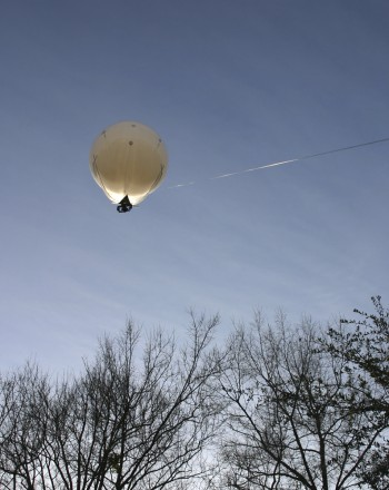 Aerial photography with a helium balloon