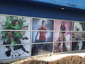 Printing window graphics on perforated window film