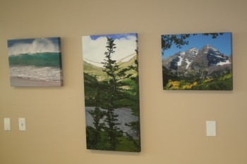 Printing canvas gallery wraps for office lobbies