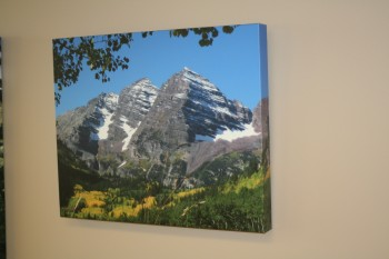 Canvas gallery wraps printed for offices