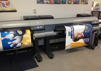 Large format inkjet printers for point of sale
