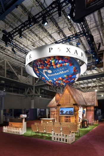 Graphics and booth design for Pixar Studios