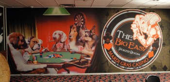 Casino decor and wall graphics