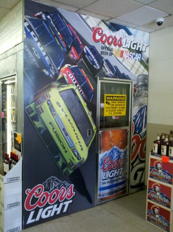 Point of sale advertising with cooler wraps