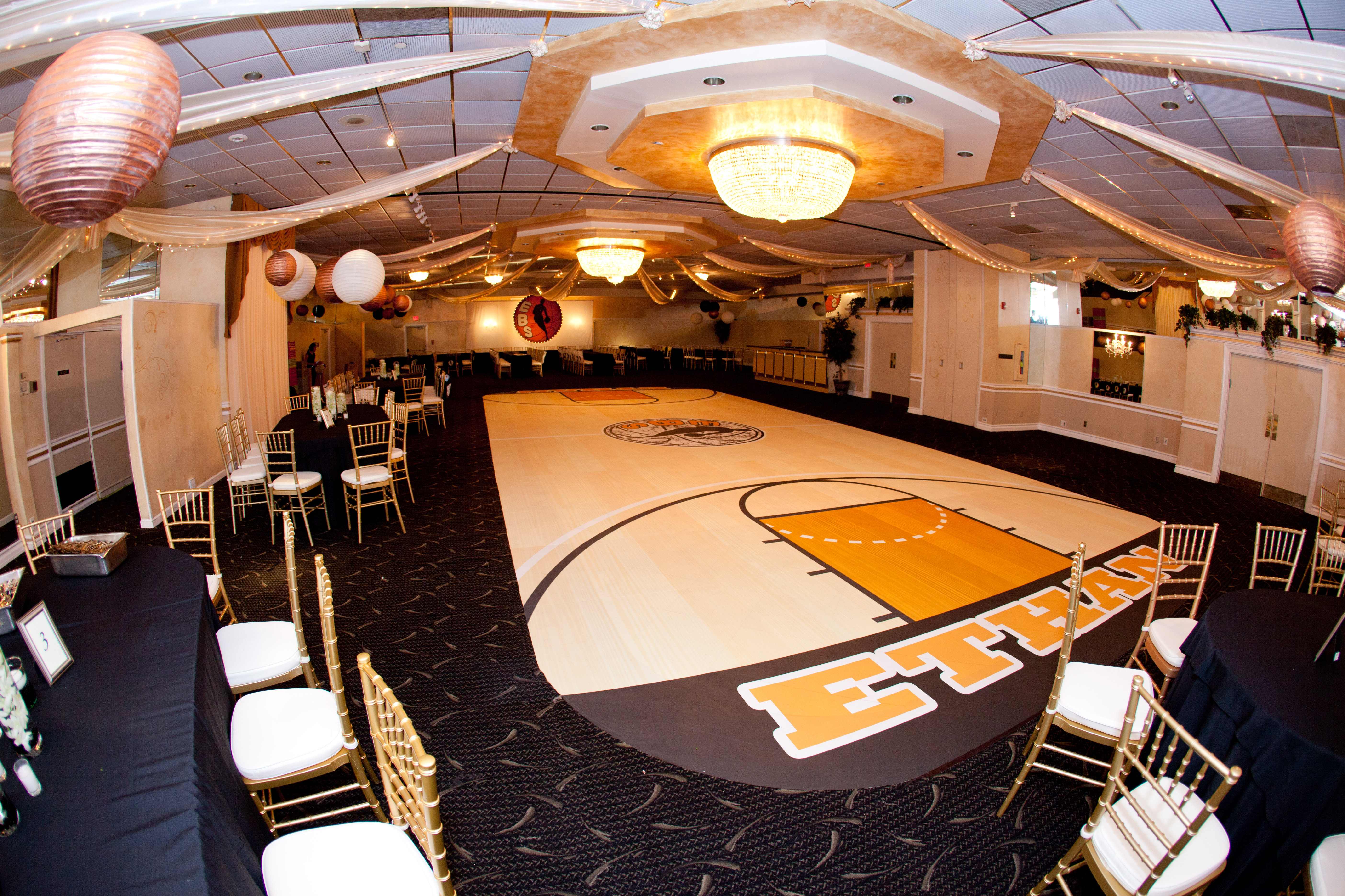Turning A Bar Mitzvah Into A Basketball Court With Inkjet