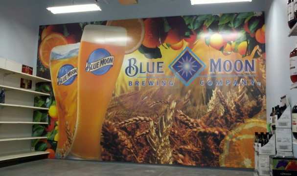 Wall murals and graphics for stores