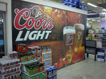 Printing wall murals for store signage