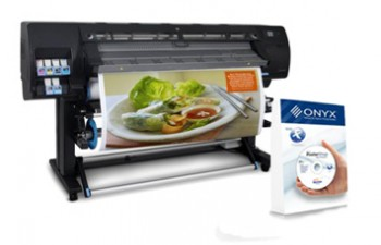 Large format inkjet printer and software bundle