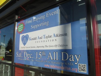 Printing for charity with window graphics