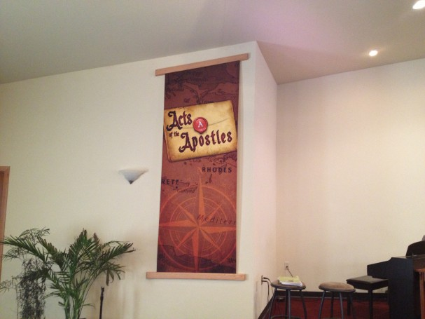 Printing banners for churches