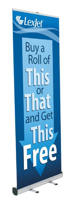 Free retractable banner stand