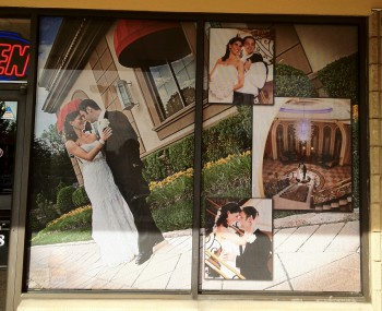 Perforated Window Vinyl Graphics