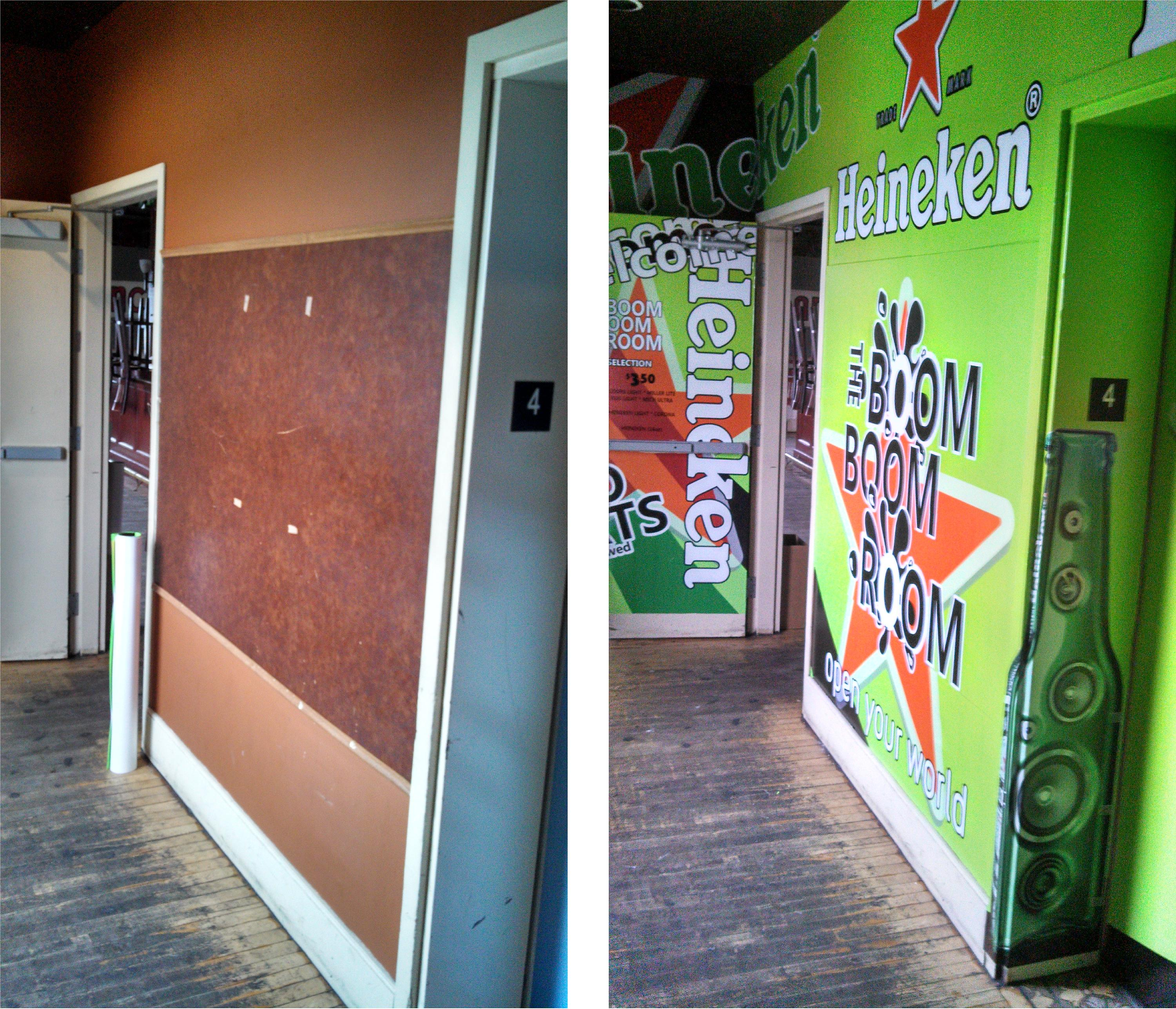 Wall Wraps Before And After At The Boom Boom Room Lexjet
