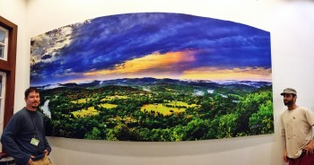GigaPan Image Printed on Canvas