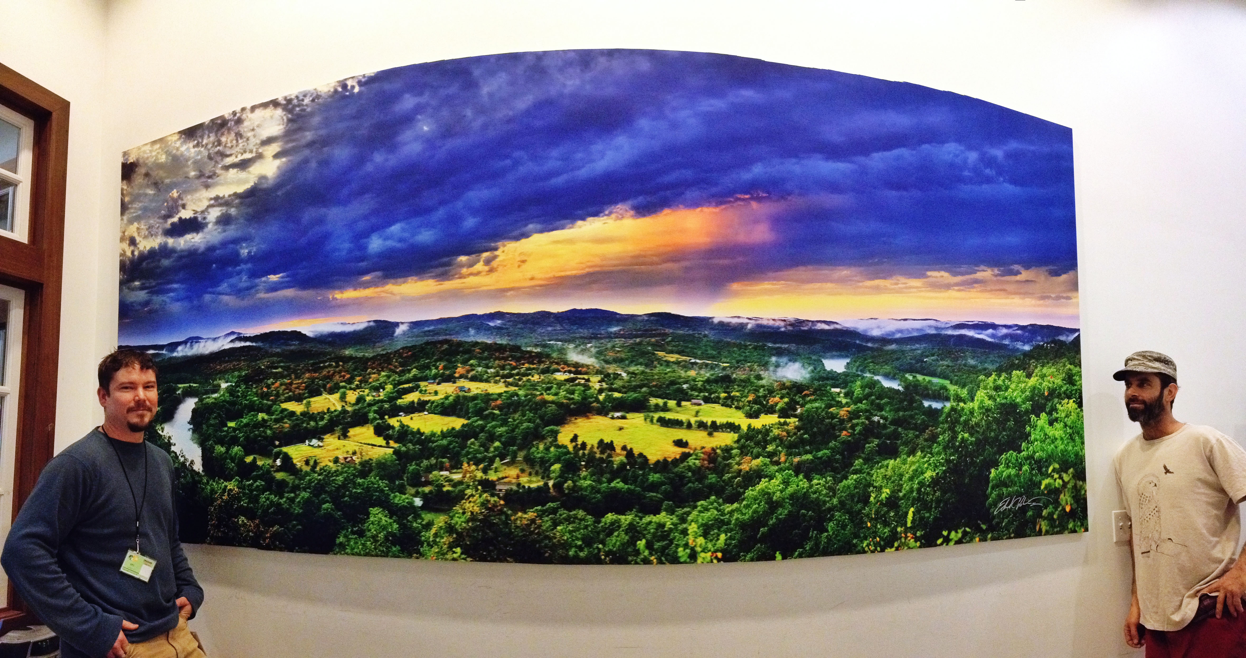 custom decor and the nature of wall murals lexjet blog gigapan image printed on canvas