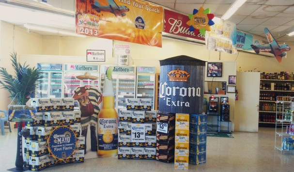 Point of Sale Inkjet Printed Display for Corona