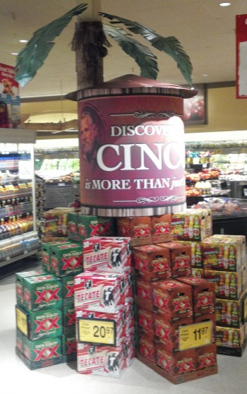 Inkjet Printed Point of Sale Display for Dos Equis