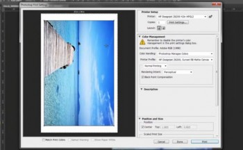 How to Print through Photoshop and HP Driver