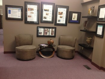 Spectra Imaging's lobby is tastefully decorated, providing a professional atmosphere in which to conduct business.